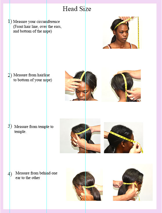 Head measuring instructions