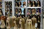 wigs on display
