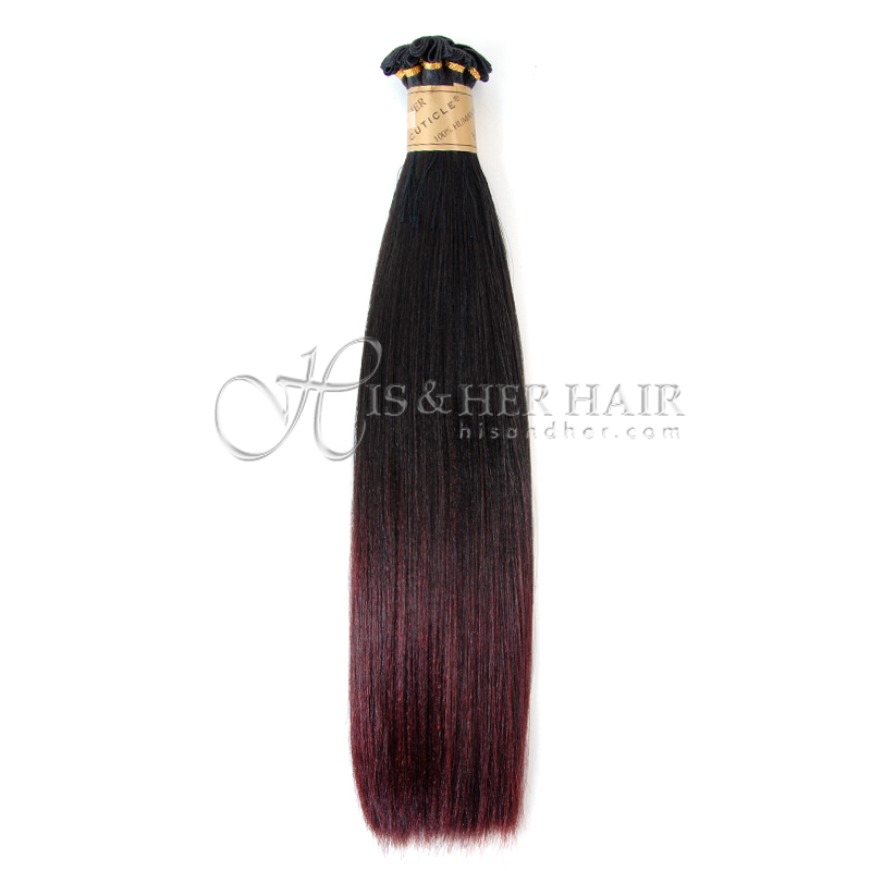 Cuticle®  - Handtied Weft Natural Perm Straight Ombre