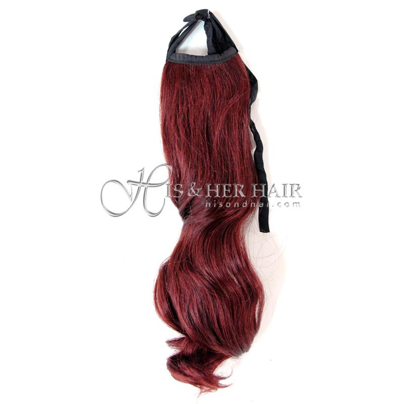 """Human Hair Ponytail - Bodywave 16"""""""