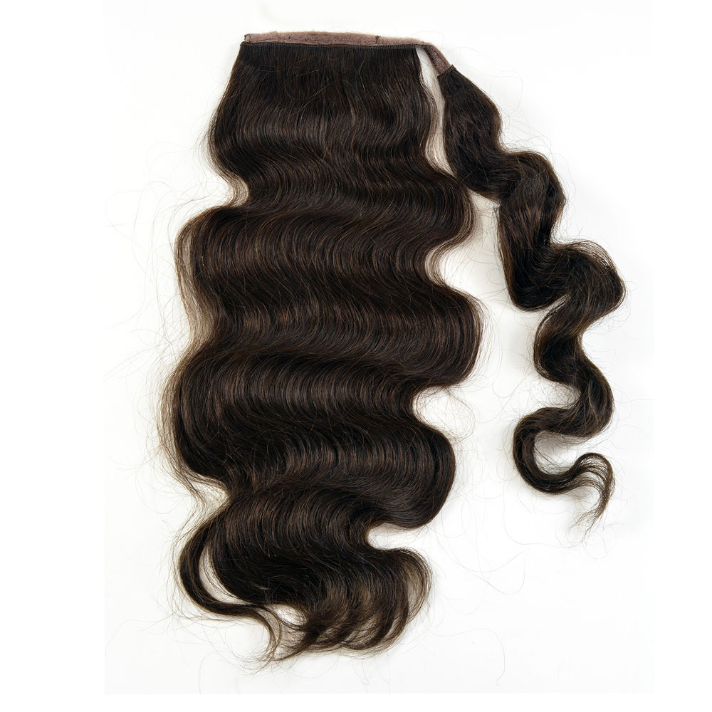 Human Hair Velcro Ponytail - Bodywave-Thick-18""