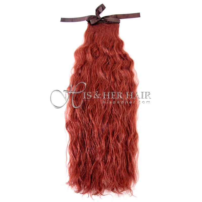 "Ponytail Human Hair - Water Wave 18"" - Sale"