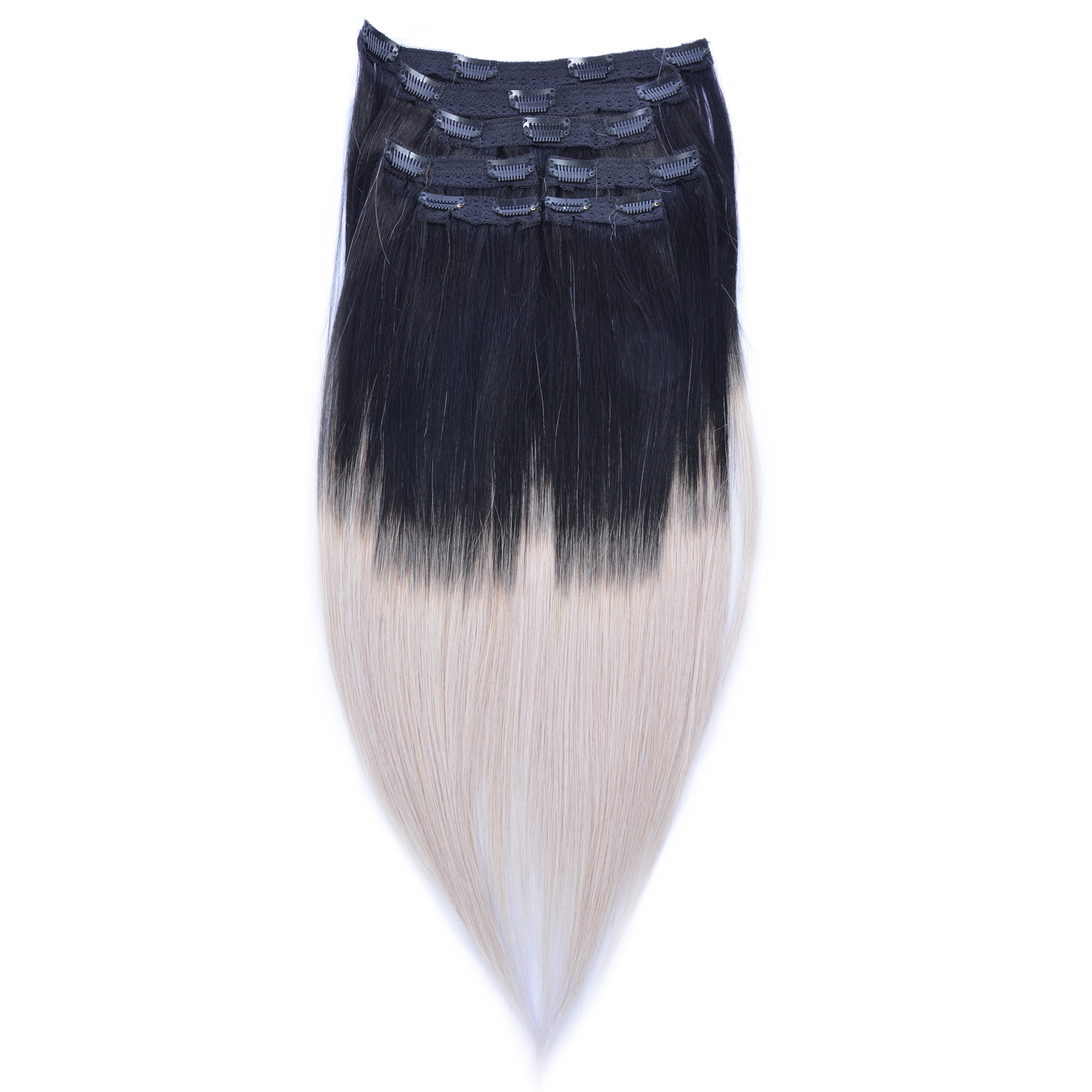 "Clip Set Silky Straight in 18"" - 7 Pcs."