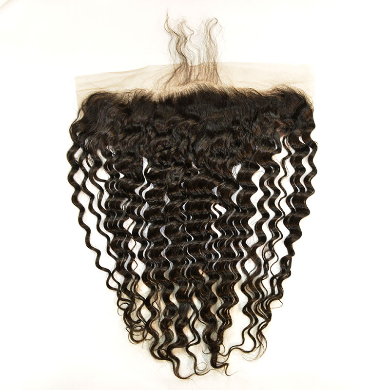 """LACE FRONTAL (13"""" x 4"""") - 16"""" WATER WAVE WITH BABY HAIR"""